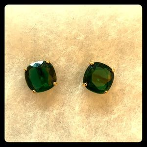 Stella & Dot emerald earrings